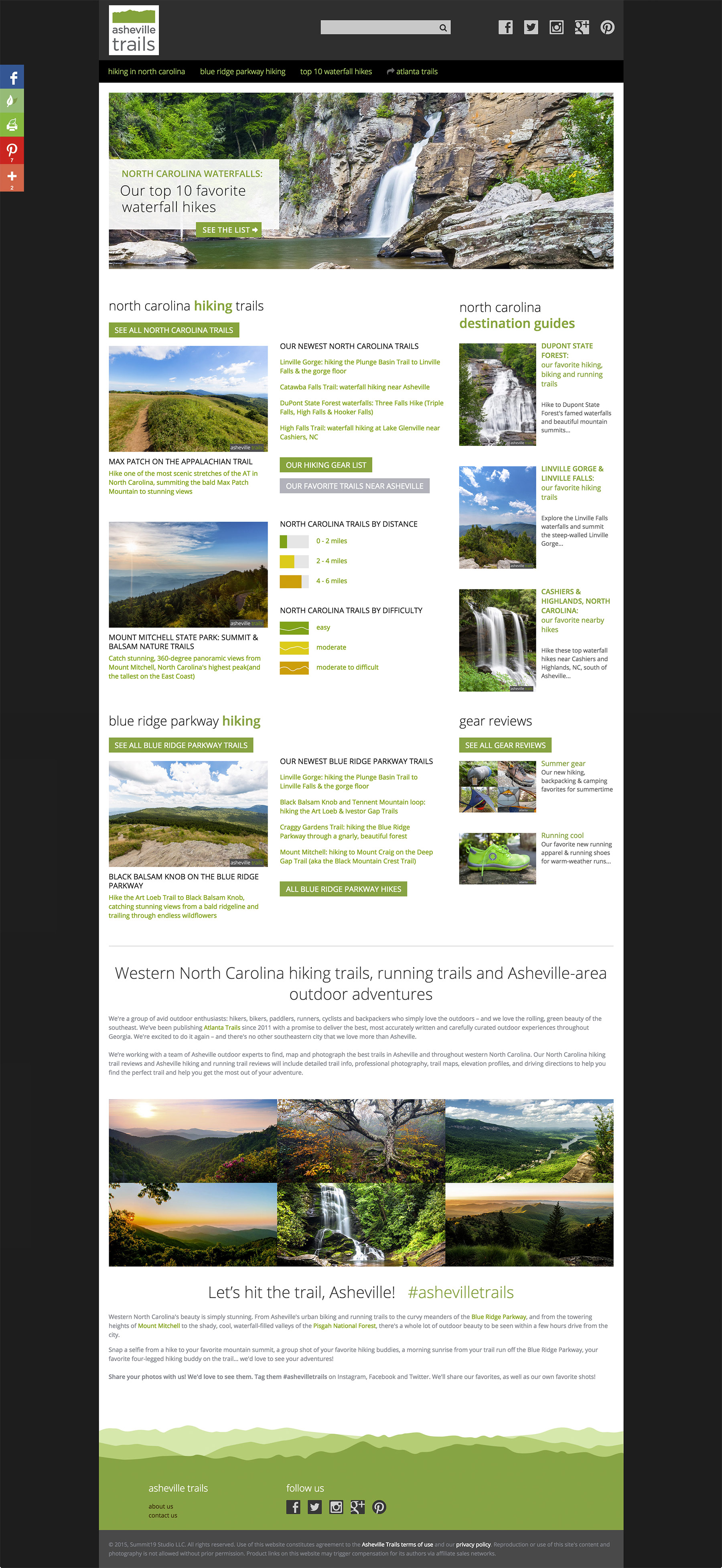 Asheville Trails is a curated collection of western North Carolina's best hiking, running & backpacking trails